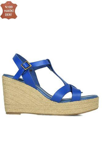 Fitbas 5027 424 Kadın Mavi Büyük & Küçük Numara Sandalet