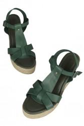 Erkan Kaban 5027 677 Kadın Yeşil Sandalet Ayakkabı - Thumbnail