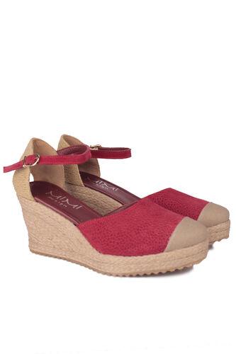 Fitbas - Fitbas 6215 627 Kadın Bordo Büyük & Küçük Numara Ayakkabı (1)