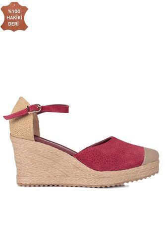 Fitbas 6215 627 Kadın Bordo Büyük & Küçük Numara Ayakkabı