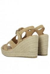 Erkan Kaban 6608 167 Kadın Taba Sandalet Ayakkabı - Thumbnail