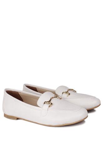 Fitbas - Fitbas 111006 468 Kadın Beyaz Büyük & Küçük Numara Babet (1)