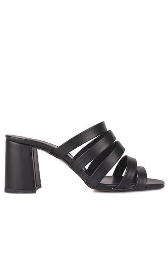 Fitbas - Fitbas 111143 014 Kadın Siyah Topuklu Büyük & Küçük Numara Yazlık Ayakkabı (1)