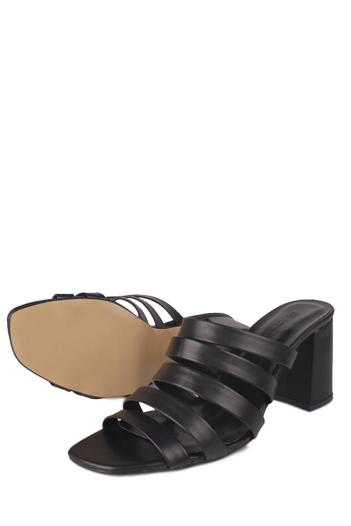 Fitbas 111143 014 Kadın Siyah Topuklu Büyük & Küçük Numara Yazlık Ayakkabı