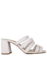 Fitbas 111143 468 Kadın BeyazTopuklu Büyük & Küçük Numara Yazlık Ayakkabı - Thumbnail