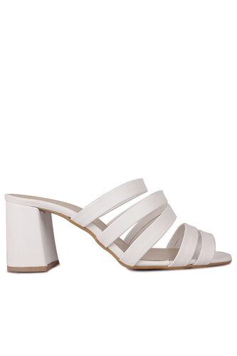 Fitbas - Fitbas 111143 468 Kadın BeyazTopuklu Büyük & Küçük Numara Yazlık Ayakkabı (1)