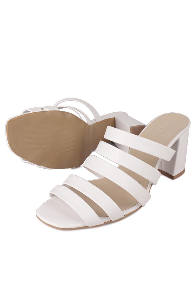 Fitbas 111143 468 Kadın BeyazTopuklu Büyük & Küçük Numara Yazlık Ayakkabı