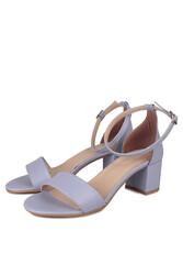 Fitbas 111272 832 Kadın Lila Cilt Topuklu Büyük & Küçük Numara Sandalet - Thumbnail
