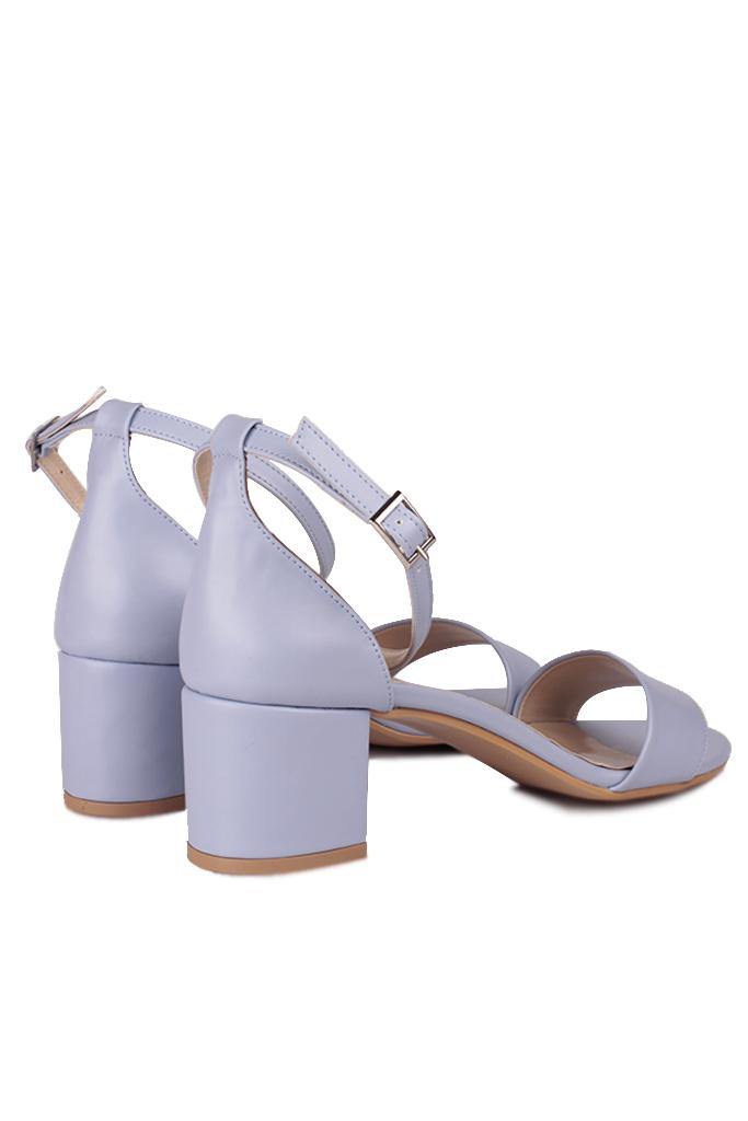 Fitbas 111272 832 Kadın Lila Cilt Topuklu Büyük & Küçük Numara Sandalet