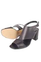 Fitbas 111300 014 Kadın Siyah Topuklu Büyük & Küçük Numara Yazlık Ayakkabı - Thumbnail