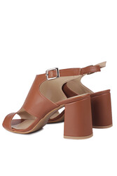 Fitbas 111300 167 Kadın Taba Topuklu Büyük & Küçük Numara Yazlık Ayakkabı - Thumbnail