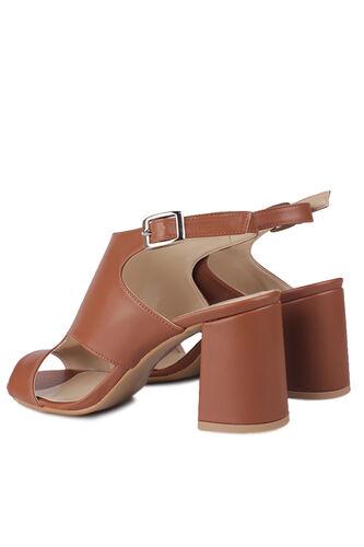 Fitbas - Fitbas 111300 167 Kadın Taba Topuklu Büyük & Küçük Numara Yazlık Ayakkabı (1)