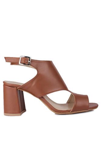Fitbas 111300 167 Kadın Taba Topuklu Büyük & Küçük Numara Yazlık Ayakkabı