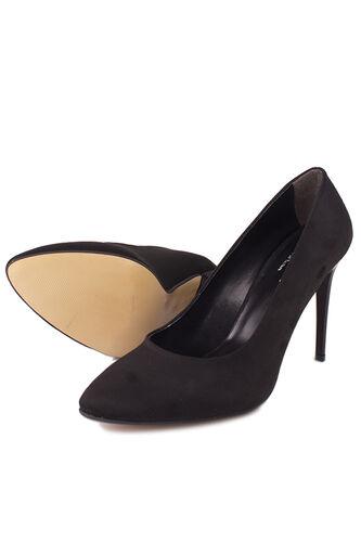 Fitbas - Fitbas 111500 008 Kadın Siyah Süet Büyük & Küçük Numara Stiletto (1)