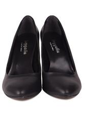 Fitbas 111500 014 Kadın Siyah Büyük & Küçük Numara Stiletto - Thumbnail