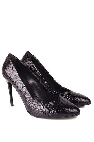 Fitbas - Fitbas 111500 024 Kadın Siyah Rugan Büyük & Küçük Numara Stiletto (1)
