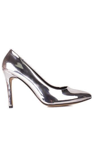 Fitbas 111501 670 Kadın Gümüş Ayna Büyük & Küçük Numara Stiletto
