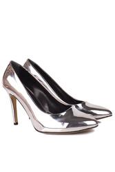 Fitbas 111501 670 Kadın Gümüş Ayna Büyük & Küçük Numara Stiletto - Thumbnail