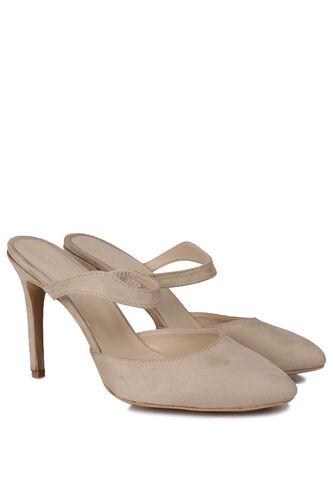 Fitbas - Fitbas 111503 327 Kadın Ten Süet Büyük & Küçük Numara Stiletto (1)