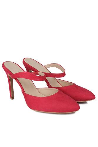 Fitbas - Fitbas 111503 527 Kadın Kırmızı Süet Büyük & Küçük Numara Stiletto (1)