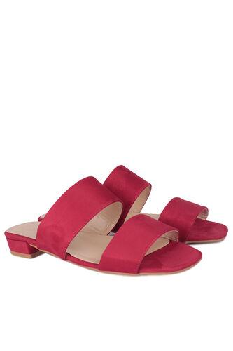 Fitbas - Fitbas 111601 527 Kadın Kırmızı Büyük & Küçük Numara Terlik (1)