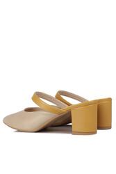 Fitbas 111629 324 Kadın Ten Sarı Büyük & Küçük Numara Terlik - Thumbnail