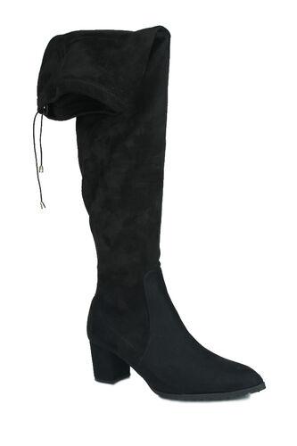 Fitbas - Fitbas 111731 008 Kadın Siyah Sivri Burun Streç Büyük Küçük Numara Çizme (1)