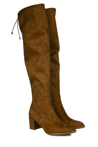 Fitbas - Fitbas 111731 167 Kadın Ten Sivri Burun Streç Büyük Küçük Numara Çizme (1)