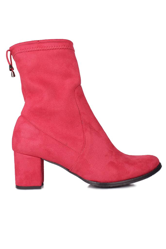 Fitbas 111740 527 Kadın Kırmızı Küt Burun Streç Büyük Küçük Numara Bot