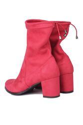 Fitbas 111740 527 Kadın Kırmızı Küt Burun Streç Büyük Küçük Numara Bot - Thumbnail