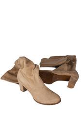 Fitbas 111741 327 Kadın Ten Küt Burun Streç Büyük Küçük Numara Çizme - Thumbnail