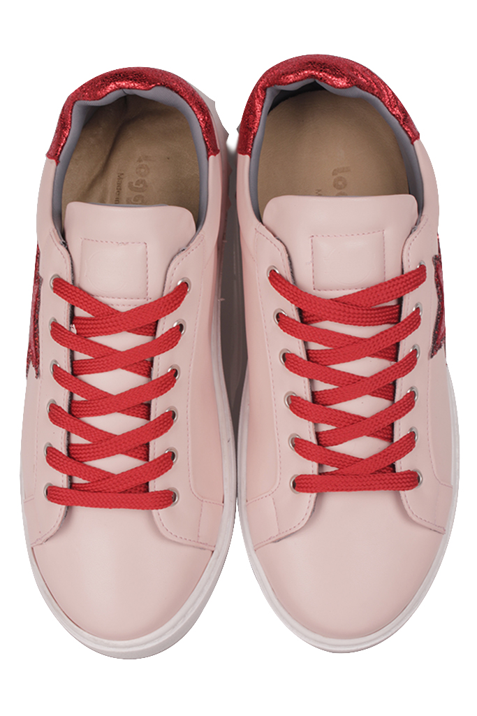 Fitbas 111952 547 Kadın Pudra Kırmızıt Büyük Numara Ayakkabı
