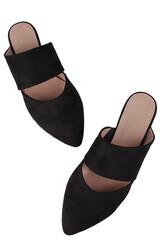 Fitbas 112003 008 Kadın Siyah Büyük & Küçük Numara Babet - Thumbnail