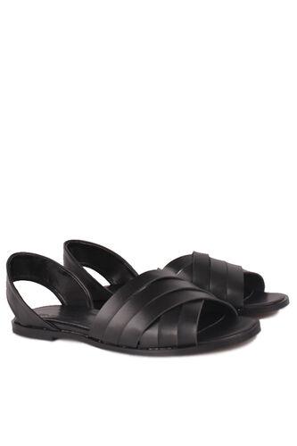 Fitbas - Fitbas 112111 014 Kadın Siyah Büyük Numara Sandalet (1)