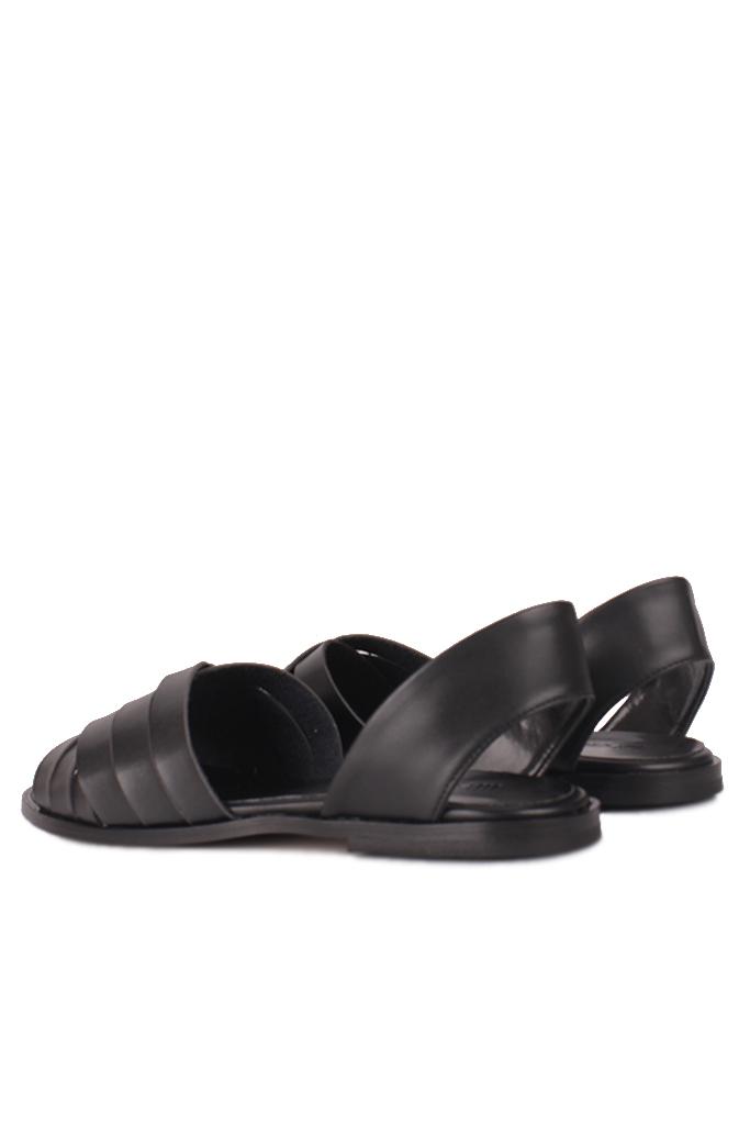Fitbas 112111 014 Kadın Siyah Büyük Numara Sandalet
