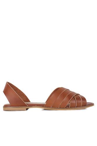 Fitbas 112111 167 Kadın Taba Büyük Numara Sandalet