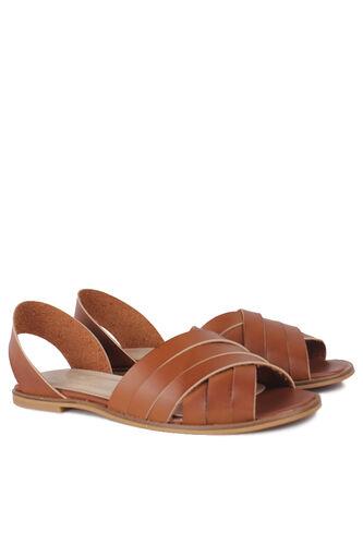 Fitbas - Fitbas 112111 167 Kadın Taba Büyük Numara Sandalet (1)