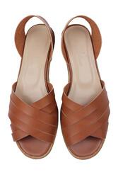 Fitbas 112111 167 Kadın Taba Büyük Numara Sandalet - Thumbnail