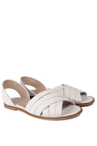 Fitbas - Fitbas 112111 468 Kadın Beyaz Büyük Numara Sandalet (1)