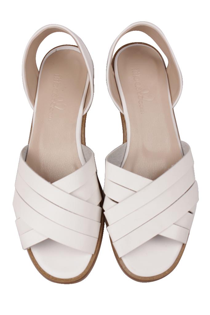 Fitbas 112111 468 Kadın Beyaz Büyük Numara Sandalet