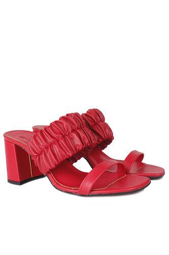 Fitbas - Fitbas 112155 524 Kadın Kırmızı Topuklu Büyük & Küçük Numara Terlik (1)
