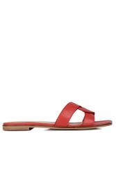 Fitbas 112621 524 Kadın Kırmızı Büyük Numara Terlik - Thumbnail