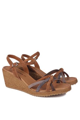 Fitbas - Fitbas 1314 169 Kadın Taba Süet Büyük & Küçük Numara Sandalet (1)