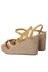 Fitbas 1315 125 Kadın Sarı Büyük & Küçük Numara Sandalet - Thumbnail