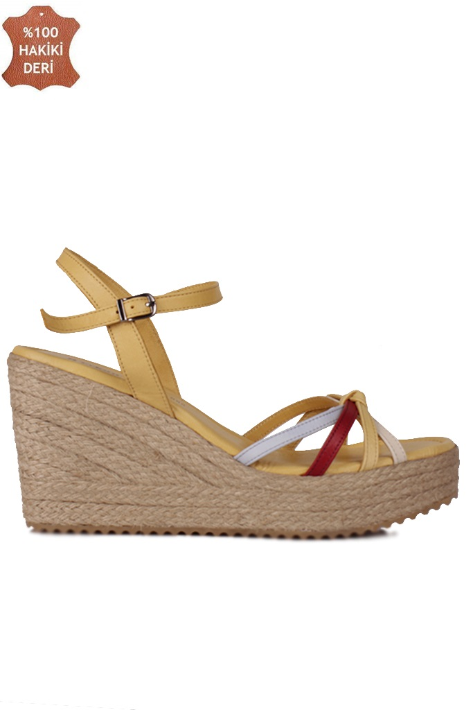 Fitbas 1315 125 Kadın Sarı Büyük & Küçük Numara Sandalet