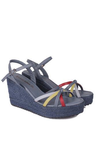 Fitbas - Fitbas 1315 424 Kadın Mavi Büyük & Küçük Numara Sandalet (1)