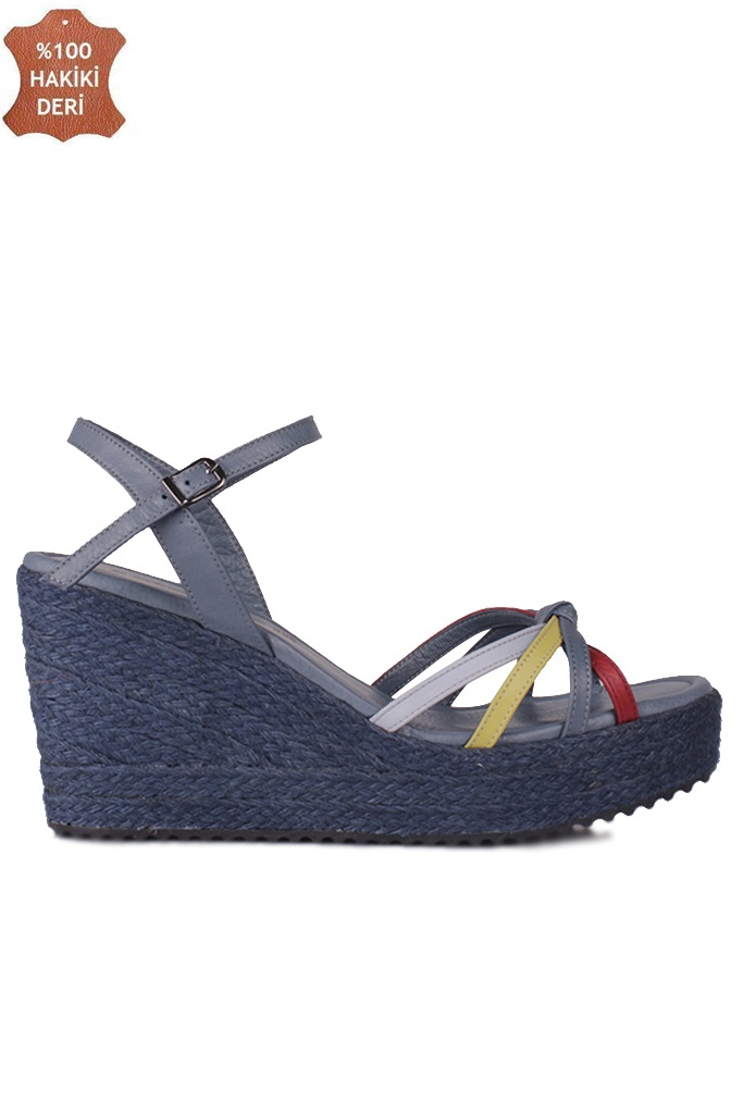 Fitbas 1315 424 Kadın Mavi Büyük & Küçük Numara Sandalet