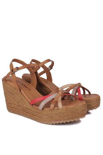 Fitbas - Fitbas 1315 701 Kadın Taba Büyük & Küçük Numara Sandalet (1)