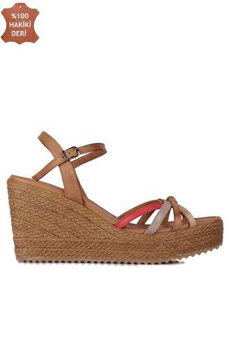 Fitbas 1315 701 Kadın Taba Büyük & Küçük Numara Sandalet