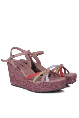 Fitbas - Fitbas 1315 702 Kadın Mor Büyük & Küçük Numara Sandalet (1)
